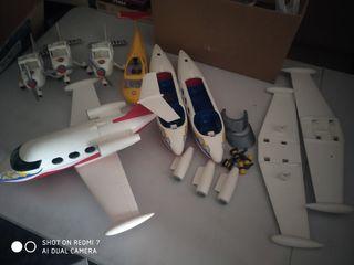 avion playmobil 6081 y piezas de repuest de varios
