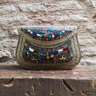 Bolso Clutch Multicolor. Mosaico