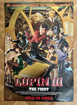 Poster cine Lupin III: The first. Anime.