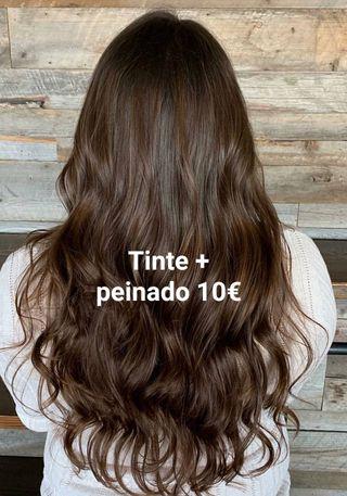 tinte + peinado 10€