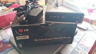 DVD grabador/regrabadot externo LG GSA-E40L