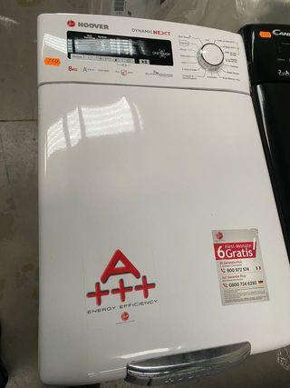 Lavadora Hoover 8 kg carga superior A+++