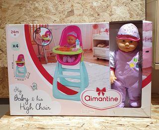 juguete nuevo precintado estrenar muñeca y trona