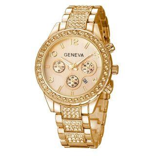 Reloj de Lujo color del Oro para Señoritas de moda