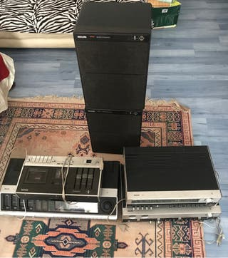 Equipo de sonido vintage Philips