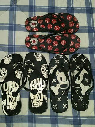 Chanclas pack 3 Paul Frank y Globe