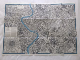 Mapa de Roma de la revista Geo