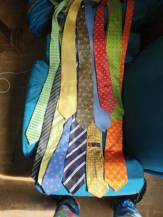 Corbatas hechas a mano ITALY, PRIMERAS MARCAS.