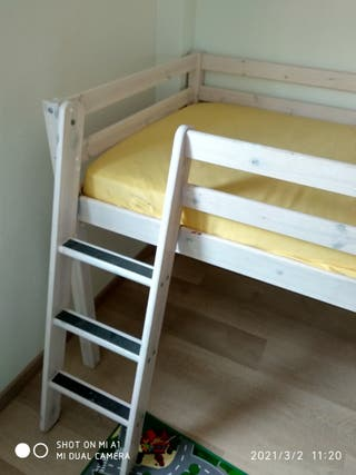 Cama alta Montessori + COLCHÓN High Bed + mattress