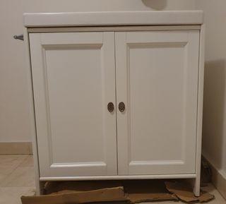 Mueble con lavabo blanco IKEA 80 cm