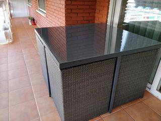 Conjunto mesa y sillas exterior