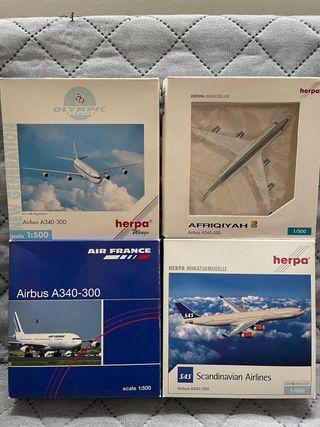 Aviones Airbus 340-200/300 Herpa New Generation