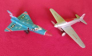 Juguetes chapa antiguos Avión RICO y Jet Plane 304
