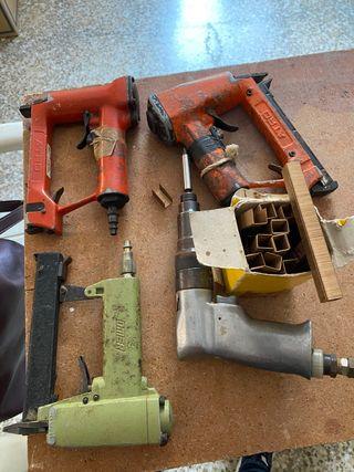 Grapadora y destornillador de aire comprimido