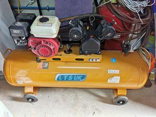 Compresor de aire gasolina 200 litros motor 5.5cv