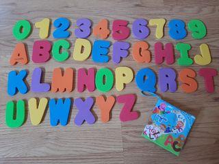 Números, letras y libro tela abecedario para bebés