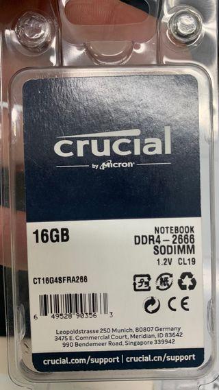 Memoria Ram 16gb DDR4 SO-DIMM