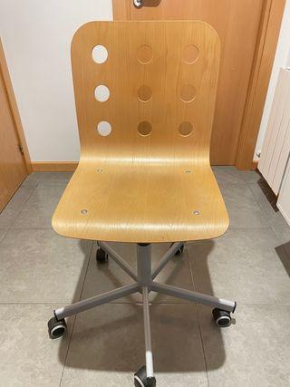 Silla escritorio madera abedul IKEA