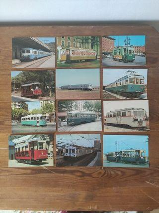 Postales antiguas transporte público