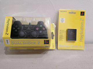 Pack dualshock y memory card precintado ps2