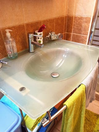 lavabo de cristal 80x40
