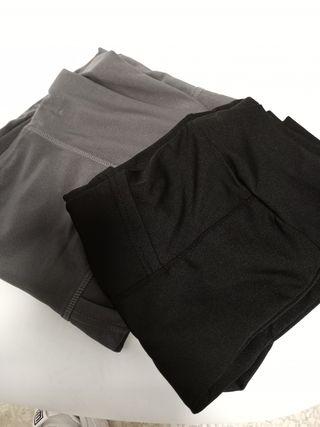 dos mallas largas con bolsillos