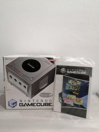Caja y manuales game cube silver