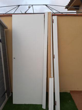 1 puerta de interior con sus tapetes correspondien