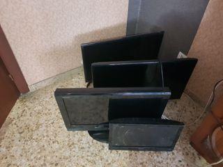 vendo lote de 4 tv 3 para piezas i 1 funciona
