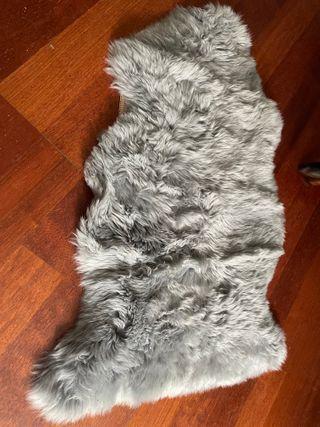 2x1 Alfombra pelo gris