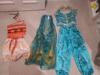 Jasmine and Moana costumes