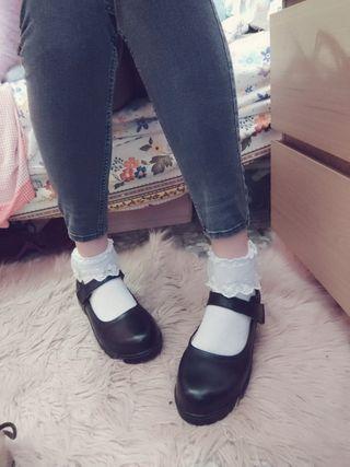 Zapatos Lolita kawaii negros