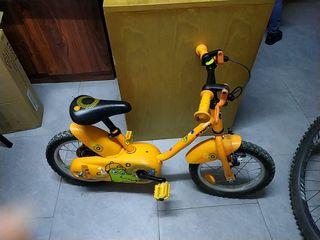 Bicicleta niños con rodines