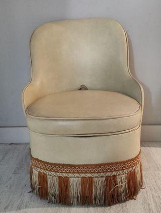 taburete / sillón vintage almacenamiento