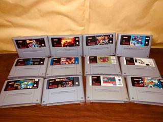 Lote 12 juegos Super Nintendo snes
