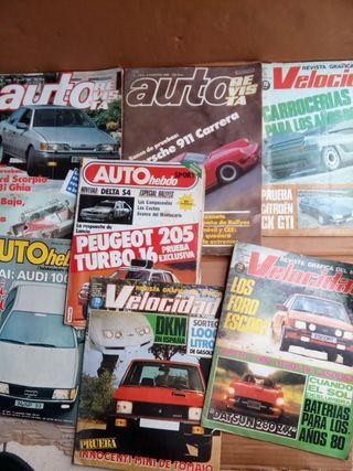 lote de 7 revistas antiguas de coches