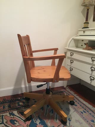 Silla escritorio de madera