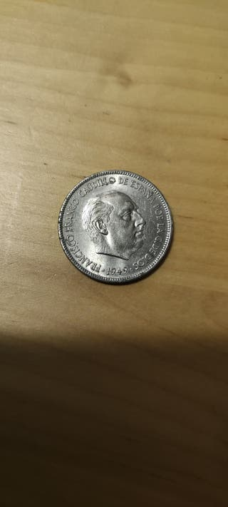 moneda de 5 pesetas 1949 franco