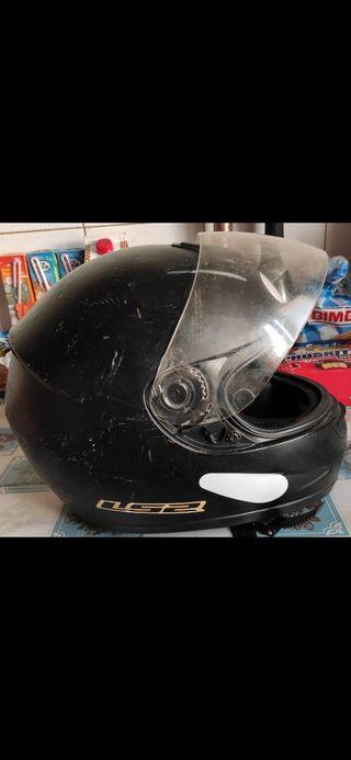 Casco Integral Moto con pegatinas reflectantes