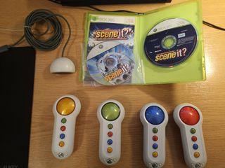 Scene It 1 y 2 con pulsadores Xbox 360