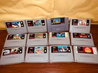Lote de 12 juegos Super Nintendo snes