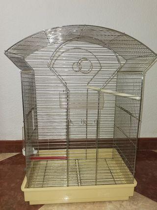 Jaula para ninfas y pájaros de tamaño mediano.