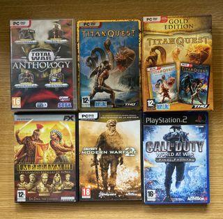 Varios juegos PC, 1 de PS2 y 4 para Nintendo DS