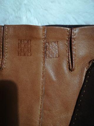 guantes de piel Carolina herrera