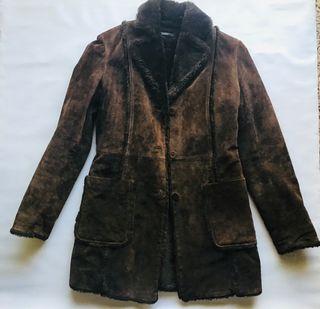 Abrigo piel Zara