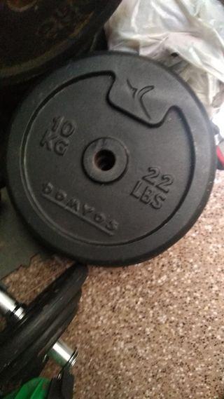 2 pesas de 10kg