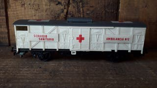 Vagón de tren eléctrico servicios de emergencia