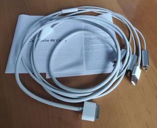 Genuino Apple Audio Video Cable Compuesto
