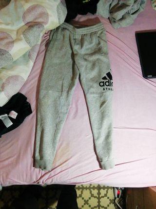Pantalon Adidas talla S niño gris