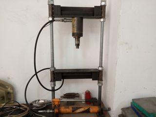 prensa hidráulica artesana